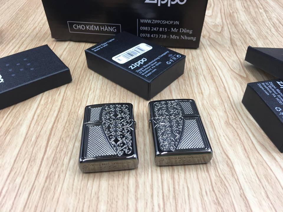 Zippo 29498 - Zippo Armor™ Old Royal Filigree Black Ice 6