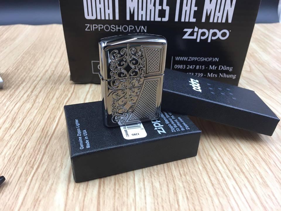 Zippo 29498 - Zippo Armor™ Old Royal Filigree Black Ice 7