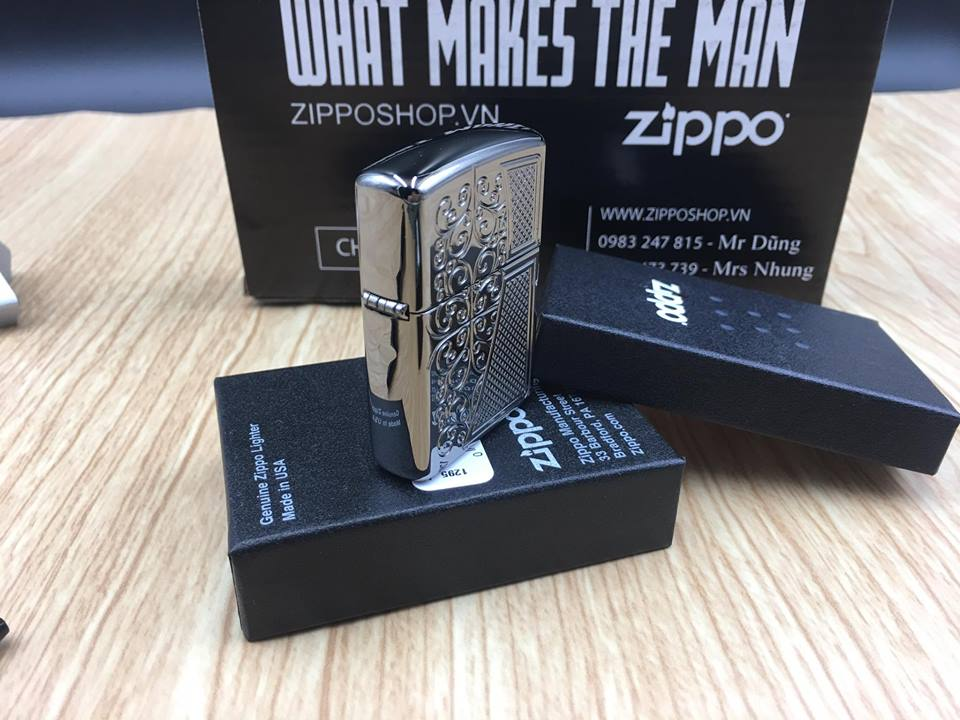 Zippo 29498 - Zippo Armor™ Old Royal Filigree Black Ice 8