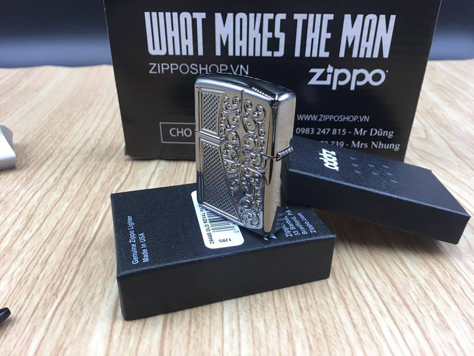 Zippo 29498 - Zippo Armor™ Old Royal Filigree Black Ice 9
