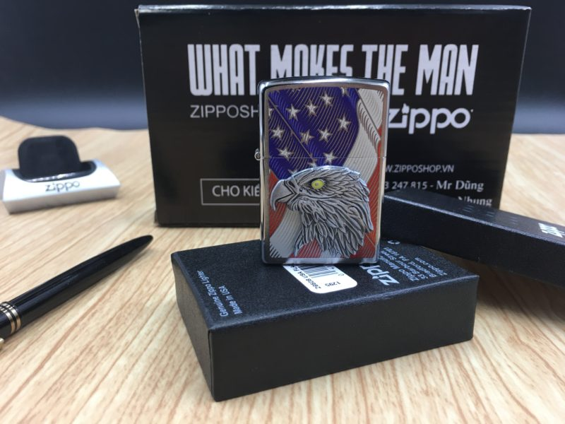 Zippo 29508 - Zippo Eagle USA Flag with Eagle Emblem 2