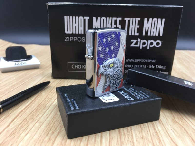 Zippo 29508 - Zippo Eagle USA Flag with Eagle Emblem 3