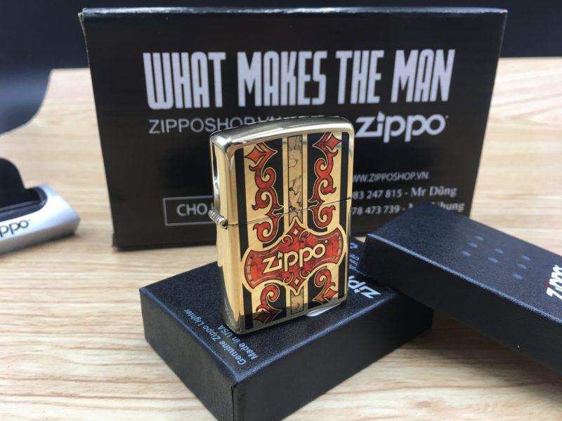 Zippo 29510 - Zippo Logo Fusion High Polish Brass 4