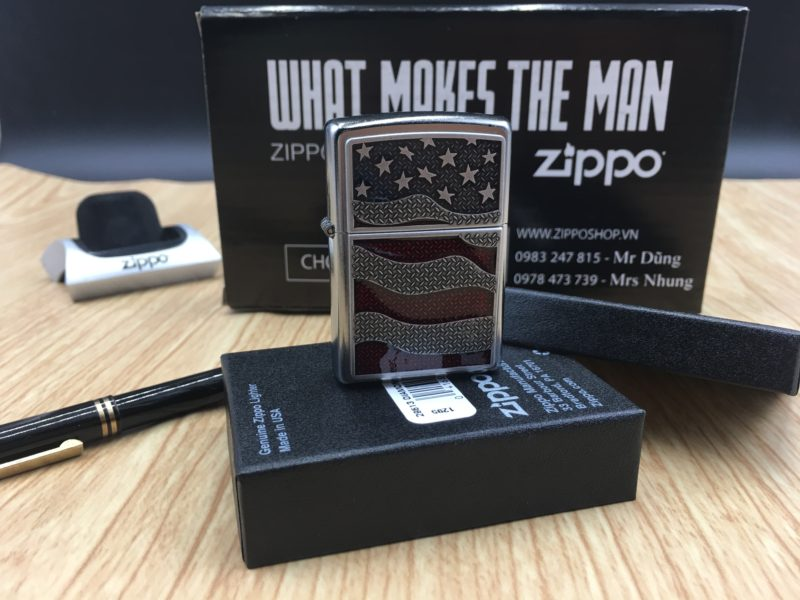 Zippo 29513 - Zippo USA Flag Diamond Plate Emblem 2