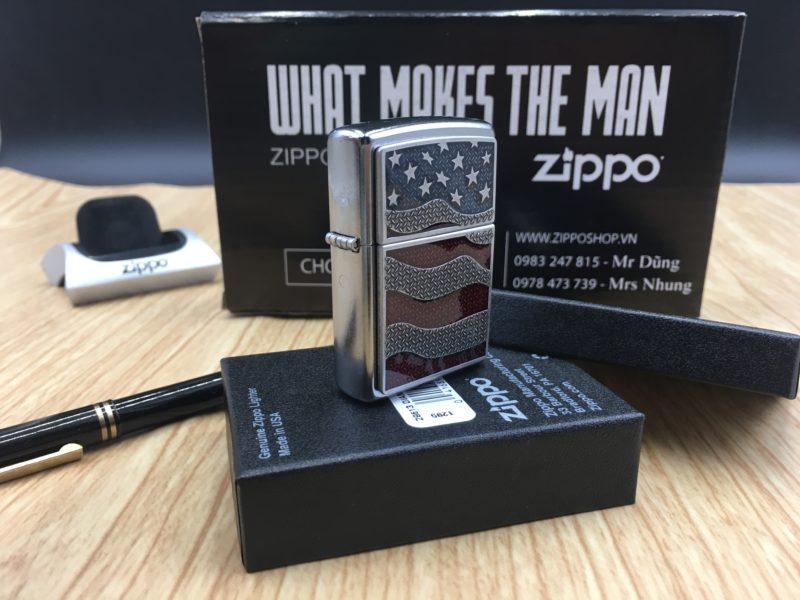 Zippo 29513 - Zippo USA Flag Diamond Plate Emblem 3