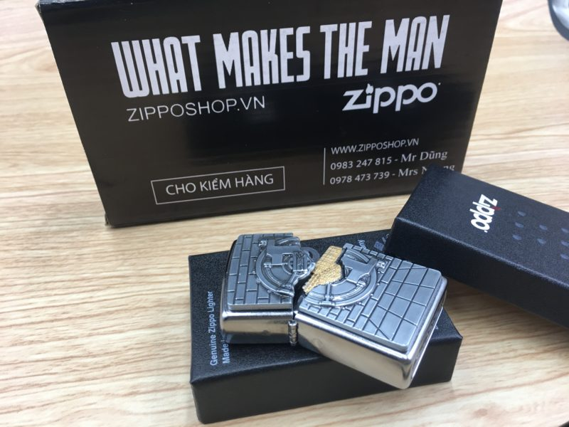 Zippo 29555 - Zippo Safe With Gold Cash Surprise Street Chrome 6