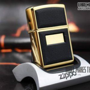 ZIPPO LA MÃ 1999 – ZIPPO ULTRALITE BLACK – GOLD PLATE 1