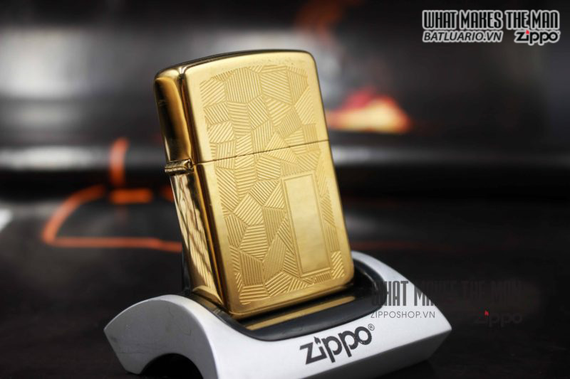 ZIPPO SHIMMER CANADA 1989 – GOLD PLATE 3