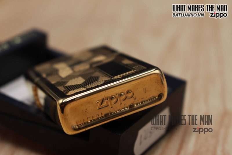 ZIPPO SHIMMER CANADA 1989 – GOLD PLATE 1
