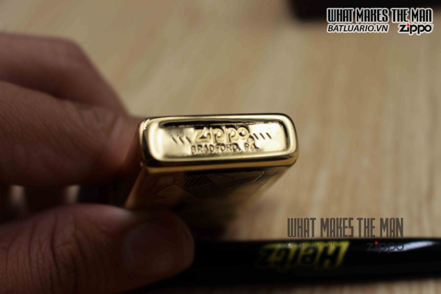 ZIPPO SHIMMER CANADA 1989 – GOLD PLATE 4