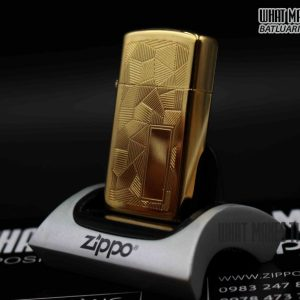 ZIPPO SLIM 1984 – SHIMMER – GOLD PLATE 3
