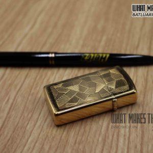 ZIPPO SLIM 1984 – SHIMMER – GOLD PLATE 1