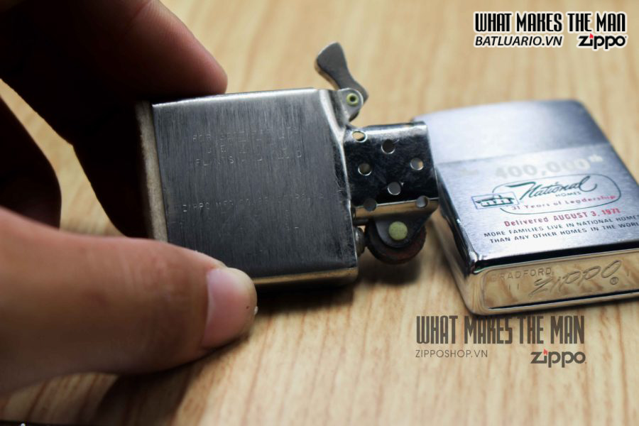 ZIPPO XƯA 1971 – THE 400,000th NATIONAL HOMES 2