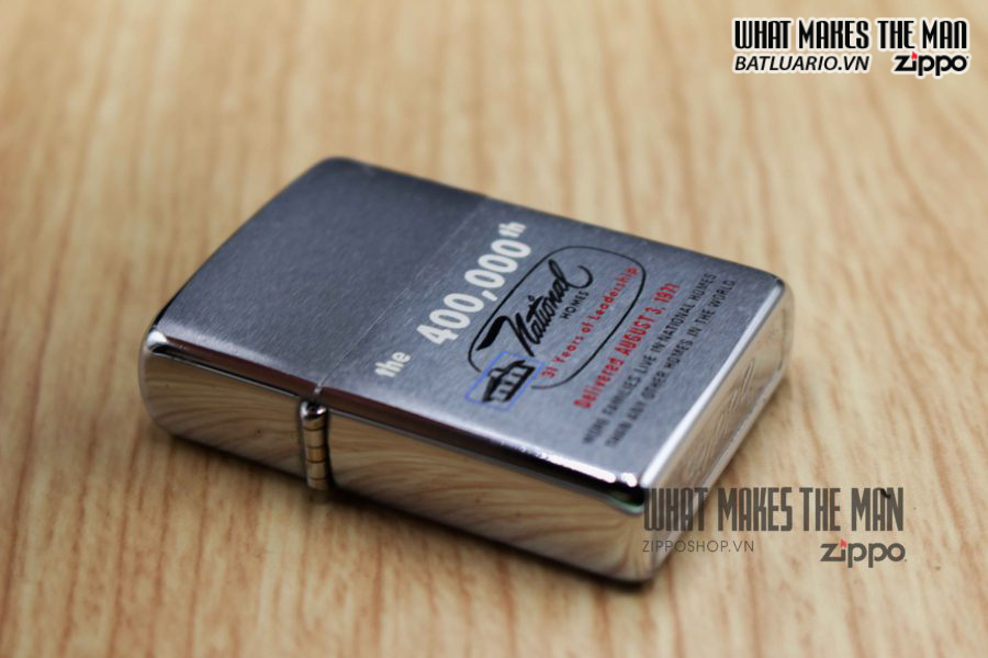 ZIPPO XƯA 1971 – THE 400,000th NATIONAL HOMES 3
