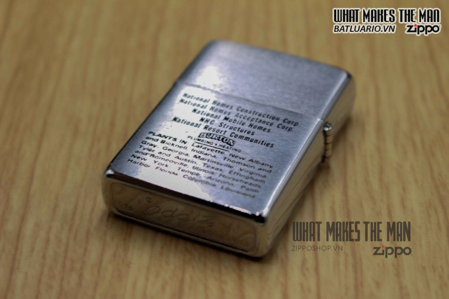 ZIPPO XƯA 1971 – THE 400,000th NATIONAL HOMES 4