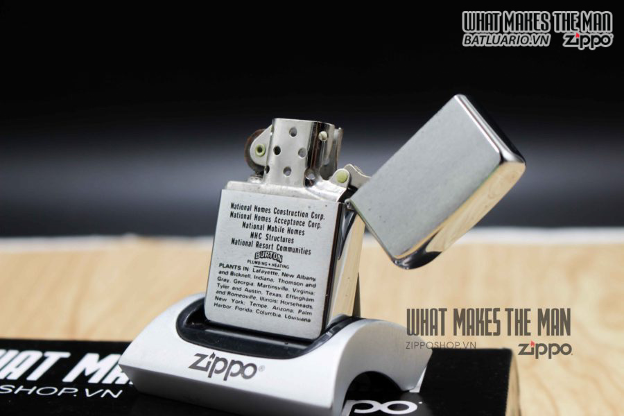 ZIPPO XƯA 1971 – THE 400,000th NATIONAL HOMES 5