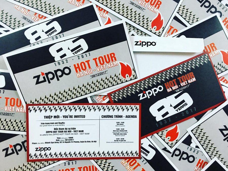 "Thiệp mời EVENT ""ZIPPO HOT TOUR HANOI - VIETNAM"""