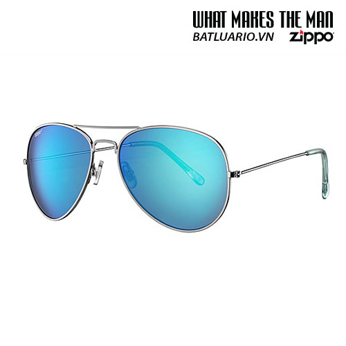 OB01-16 - Ice Blue Flash Pilot Sunglasses