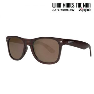 OB21-09 - Brown Wood Classic Sunglasses