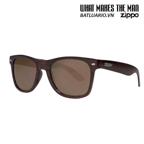 OB21-09 - Brown Wood Classic Sunglasses