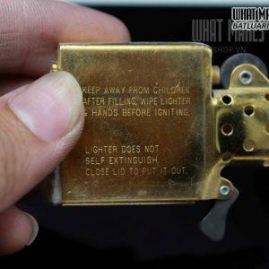 ZIPPO 1995 – GOLD PLATE 1