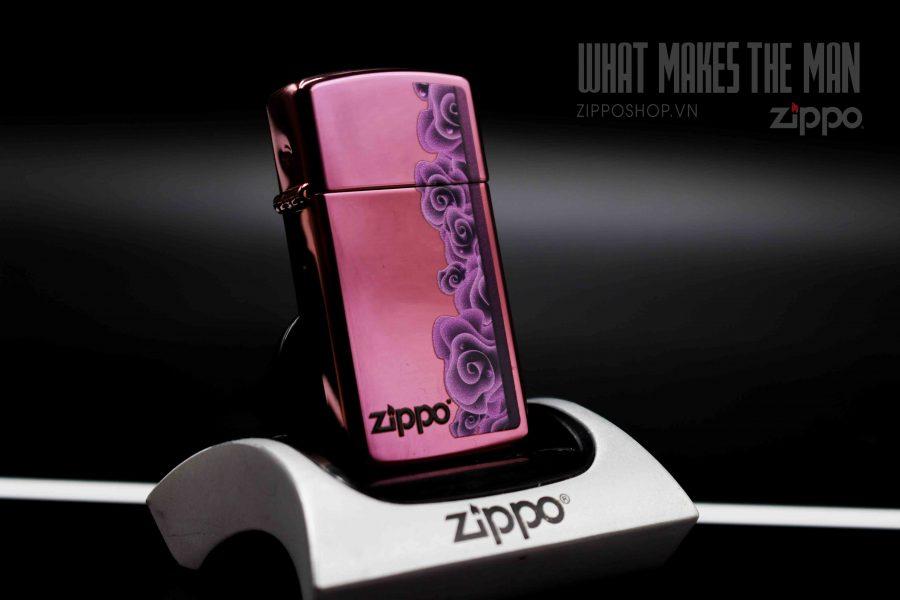 ZIPPO 28124 PURPLE ROSES 1