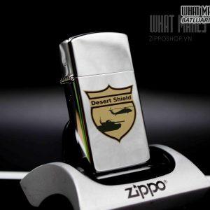 ZIPPO SLIM – LA MÃ 1990 – DESERT SHIELD 3