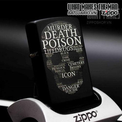 ZIPPO 218 SKULL OF WORDS