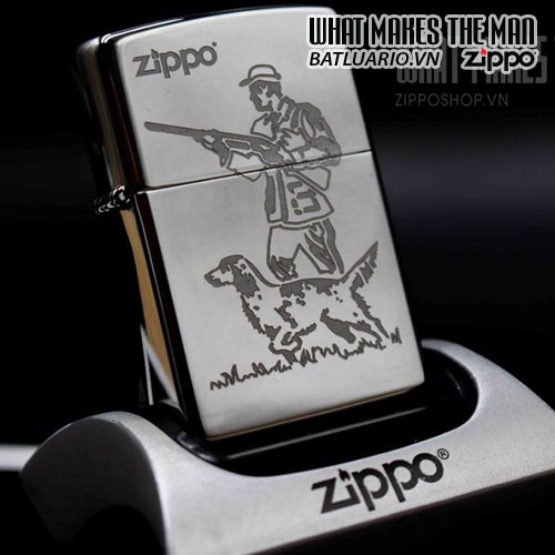 ZIPPO 250 HUNTER AND DOG