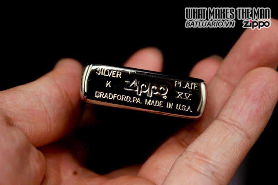 ZIPPO LA MÃ 1999 – SILVER PLATE 1 4