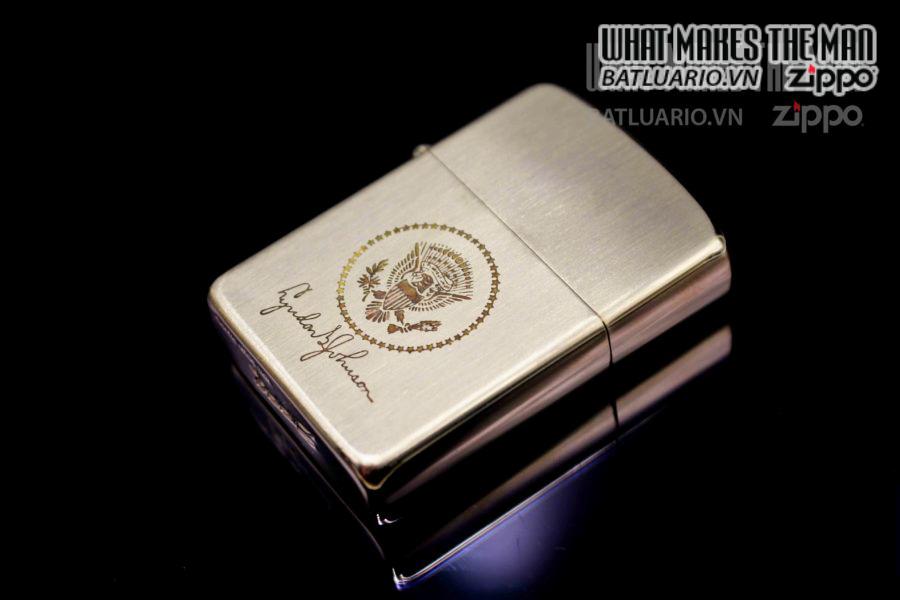 ZIPPO XƯA 1960S – 10K GOLD FILLED – LYNDON B JOHNSON 6