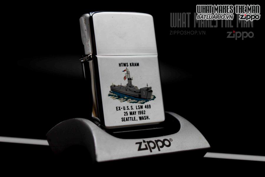 ZIPPO XƯA 1962 – TOWN & COUNTRY – USS LSM 469 5