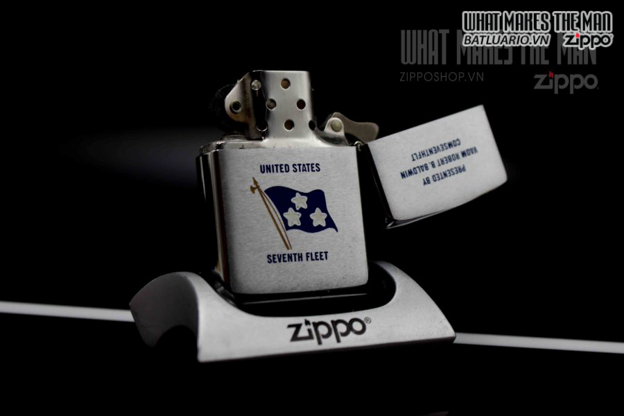 ZIPPO XƯA 1977 – US SEVENTH FLEET 3
