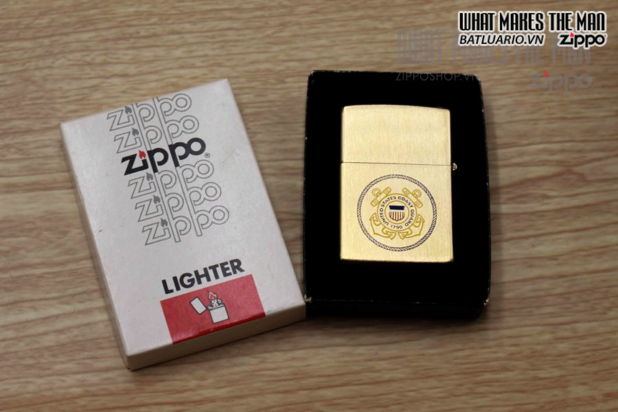 ZIPPO XƯA 1978 – GOLD PLATE – COAT GUARD 7
