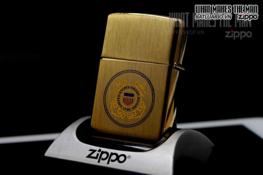 ZIPPO XƯA 1978 – GOLD PLATE – COAT GUARD 4