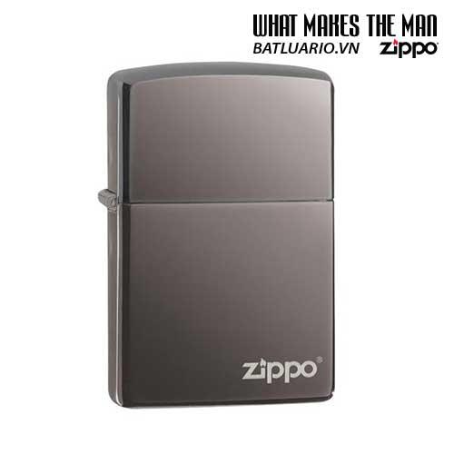 Zippo 150ZL – Zippo Black Ice with Zippo Logo