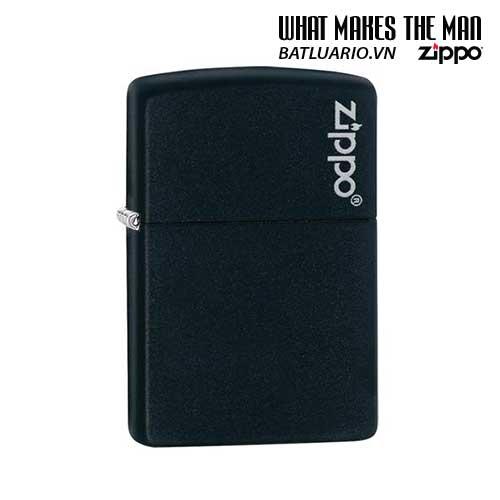 Zippo 218ZL – Zippo Black Matte with Zippo Logo