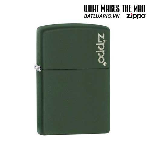 Zippo 221ZL – Zippo Green Matte with Zippo Logo