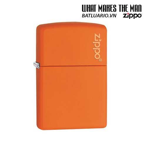 Zippo 231ZL – Zippo Orange Matte with Zippo Logo