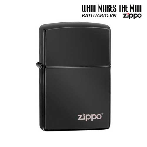 Zippo 24756ZL – Zippo Ebony with Zippo Logo