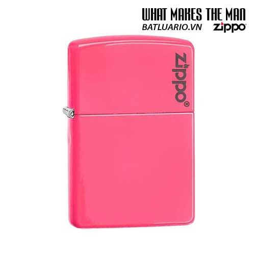 Zippo 28886ZL – Zippo Plain with Logo Neon Pink Matte