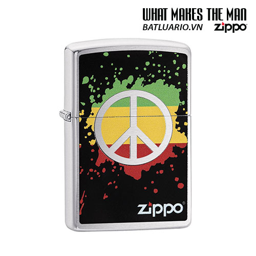 Zippo 29606 - Zippo Peace Splash Brushed Chrome
