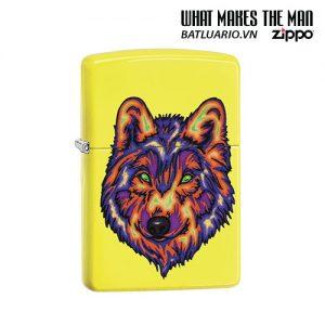 Zippo 29639 - Zippo Colorful Wolf Neon Yellow