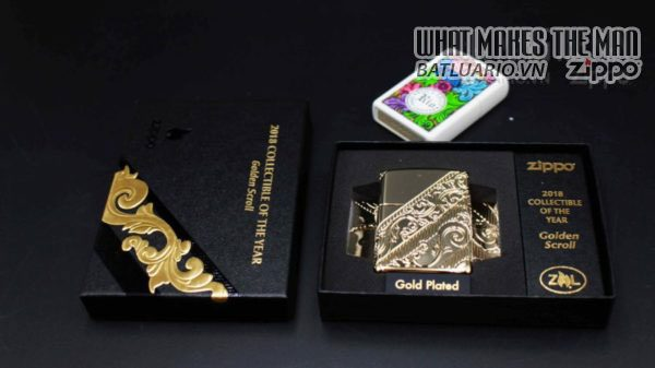 Zippo 29653 – Zippo 2018 Collectible of the Year Gold Plated Armor – COTY 2018 11