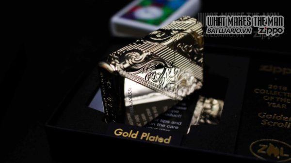 Zippo 29653 – Zippo 2018 Collectible of the Year Gold Plated Armor – COTY 2018 14