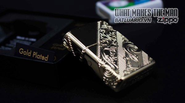 Zippo 29653 – Zippo 2018 Collectible of the Year Gold Plated Armor – COTY 2018 4