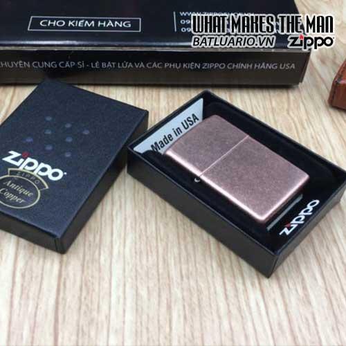 Bật Lửa Zippo 301FB – Zippo Antique Copper 1