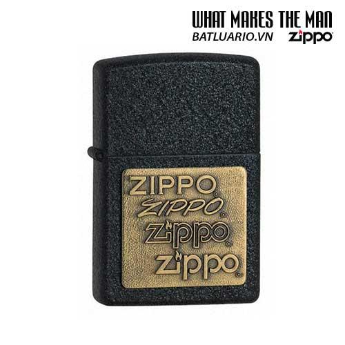 Zippo 362 – Zippo Brass Emblem Black Crackle