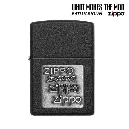 Zippo 363 – Zippo Pewter Emblem Black Crackle