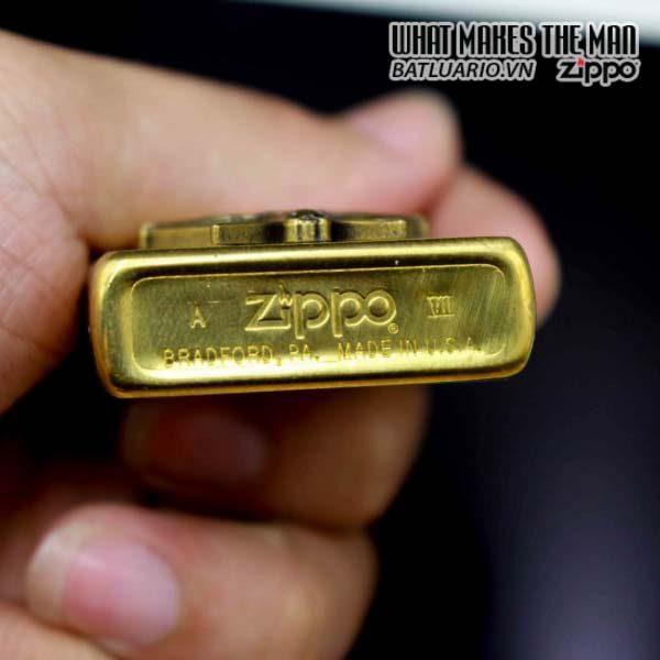 zippo 1991 marlboro longhorns đồng nguyên khối 4